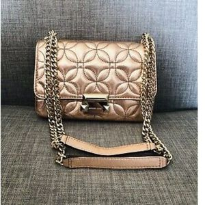 NWT Michael Kors Light Rose Gold Quilted Leather